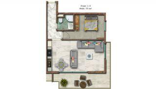 Helt Nya Lyxiga Lägenheter Vid Stranden i Alanya, Planritningar-2