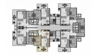 Helt Nya Lyxiga Lägenheter Vid Stranden i Alanya, Planritningar-6