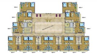 Cheap Apartments with Private Beach in Alanya Avsallar, Property Plans-1