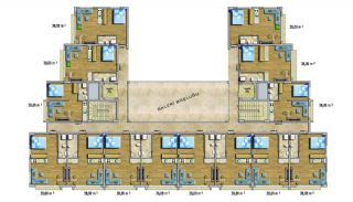 Cheap Apartments with Private Beach in Alanya Avsallar, Property Plans-2