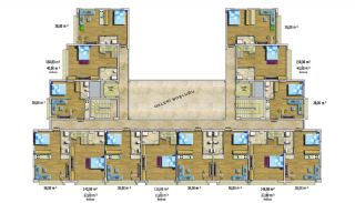Cheap Apartments with Private Beach in Alanya Avsallar, Property Plans-3