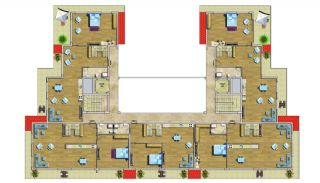 Cheap Apartments with Private Beach in Alanya Avsallar, Property Plans-4