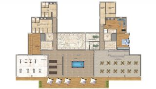 Cheap Apartments with Private Beach in Alanya Avsallar, Property Plans-5