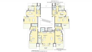 Seafront Alanya Flats with Private Access to the Beach, Property Plans-3