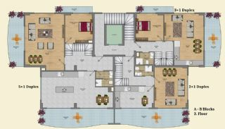 Elegant Alanya Apartments with Castle and Sea Views, Property Plans-2
