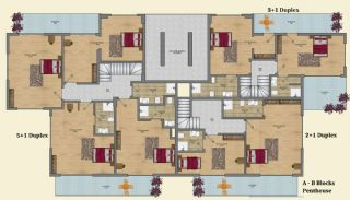 Elegant Alanya Apartments with Castle and Sea Views, Property Plans-3