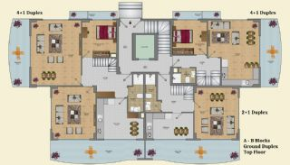 Elegant Alanya Apartments with Castle and Sea Views, Property Plans-4