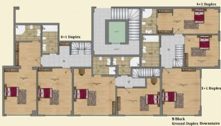 Elegant Alanya Apartments with Castle and Sea Views, Property Plans-6