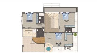 4+1 Alanya Villas with Pool Surrounded by Private Garden, Property Plans-2