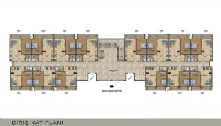 Elegant Alanya Apartments in Central Location Mahmutlar , Property Plans-1