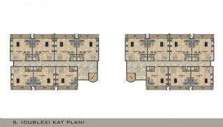 Eleganta Lägenheter i Alanya Centrala Läge av Mahmutlar, Planritningar-3