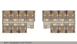 Eleganta Lägenheter i Alanya Centrala Läge av Mahmutlar, Planritningar-4