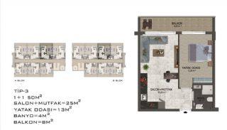Eleganta Lägenheter i Alanya Centrala Läge av Mahmutlar, Planritningar-7