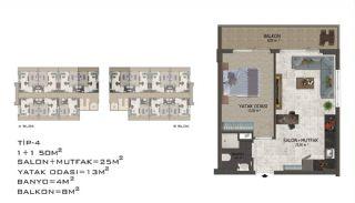 Eleganta Lägenheter i Alanya Centrala Läge av Mahmutlar, Planritningar-8