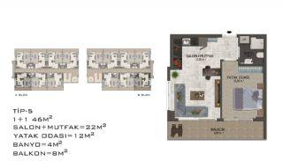 Eleganta Lägenheter i Alanya Centrala Läge av Mahmutlar, Planritningar-9