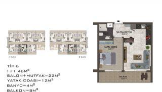 Eleganta Lägenheter i Alanya Centrala Läge av Mahmutlar, Planritningar-10