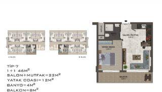 Eleganta Lägenheter i Alanya Centrala Läge av Mahmutlar, Planritningar-11