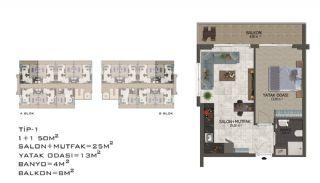 Eleganta Lägenheter i Alanya Centrala Läge av Mahmutlar, Planritningar-12