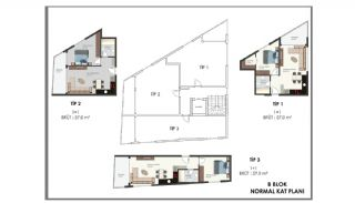 Modern Flats 250 mt to the Beach in Alanya Center, Property Plans-6