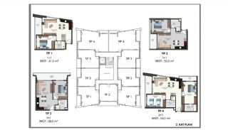 Modern Flats 250 mt to the Beach in Alanya Center, Property Plans-8