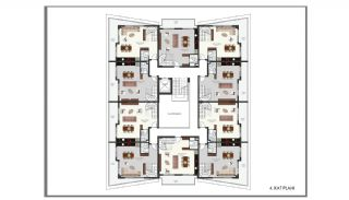 Modern Flats 250 mt to the Beach in Alanya Center, Property Plans-11