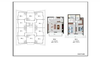 Modern Flats 250 mt to the Beach in Alanya Center, Property Plans-12
