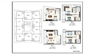 Modern Flats 250 mt to the Beach in Alanya Center, Property Plans-13