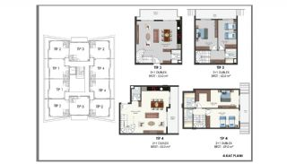 Modern Flats 250 mt to the Beach in Alanya Center, Property Plans-14