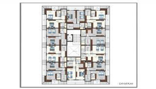 Modern Flats 250 mt to the Beach in Alanya Center, Property Plans-15