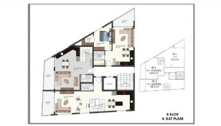 Modern Flats 250 mt to the Beach in Alanya Center, Property Plans-16