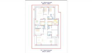 Strandzijde Appartementen met Eersteklas Dekor in Alanya, Vloer Plannen-3