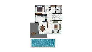 Sea and Nature View Independent Villas in Alanya Tepe, Property Plans-1