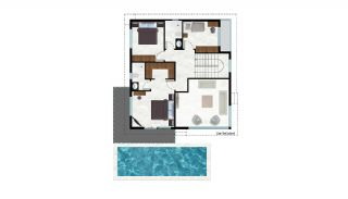 Sea and Nature View Independent Villas in Alanya Tepe, Property Plans-2