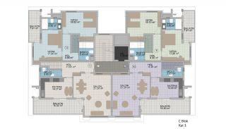 Exclusive Apartments with Taurus Mountain View in Alanya, Property Plans-2