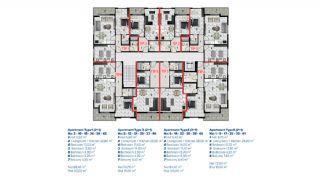 Стильная Недвижимость в Центре Аланьи по Доступным Ценам, Планировка -1