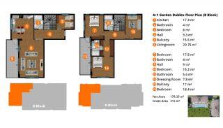 Квартиры в Центре Кестеля в Аланье в Роскошном Комплексе, Планировка -13