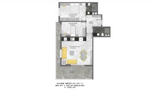 First-Class Flats with Sea View in Alanya Mahmutlar, Property Plans-3