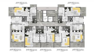 First-Class Flats with Sea View in Alanya Mahmutlar, Property Plans-11