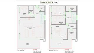 Sea View Alanya Villas with Private Pool and Garden, Property Plans-1