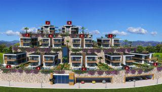 Havsutsikt Alanya villor med privat pool och trädgård, Planritningar-9
