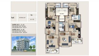 Apartments in the Center of Alanya 670 mt to the Beach, Property Plans-1