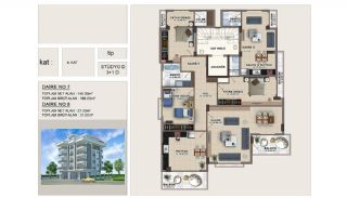 Apartments in the Center of Alanya 670 mt to the Beach, Property Plans-2