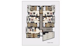 Luxury Apartments in Alanya Center 700 mt to the Beach, Property Plans-1