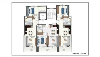 New Apartments in Alanya Center 150 mt to the Beach, Property Plans-2