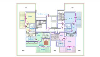 Well-Designed Apartments in Mahmutlar 300 mt to the Beach, Property Plans-1