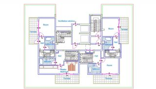 Well-Designed Apartments in Mahmutlar 300 mt to the Beach, Property Plans-2
