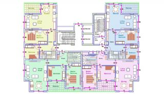 Well-Designed Apartments in Mahmutlar 300 mt to the Beach, Property Plans-5