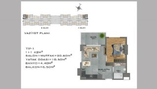 New Apartments in Avsallar Alanya with Nature and Sea View, Property Plans-1