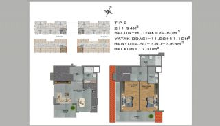 New Apartments in Avsallar Alanya with Nature and Sea View, Property Plans-8