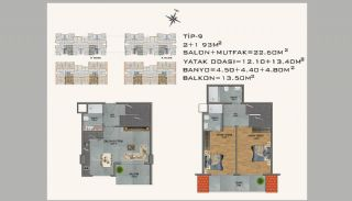 New Apartments in Avsallar Alanya with Nature and Sea View, Property Plans-9